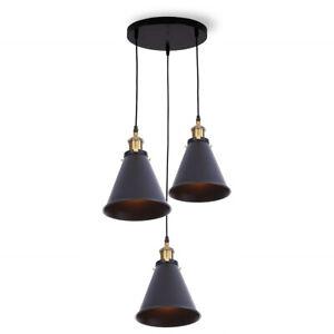 Vintage-Industrial-Retro-Lamp-Shade-Loft-3-Light-Cluster-Ceiling-Pendant-Light