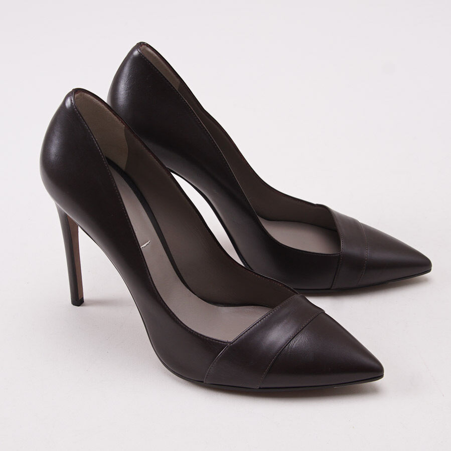 1250 KITON marron foncé Pointu toe en cuir escarpins talons US 9 (UE 40) Chaussures