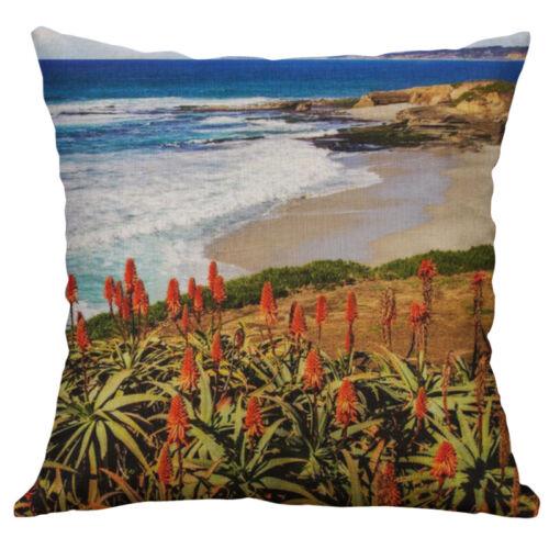 Beach Sea Pillow Case Sofa Car Waist Throw Cushion Cover Home Decoration