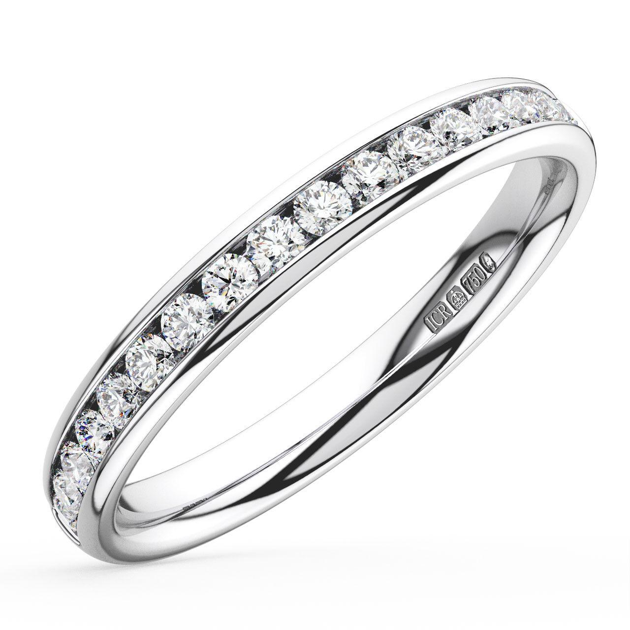 0.20CT Round Brilliant Cut Diamonds Half Eternity Wedding Ring in 9K White gold