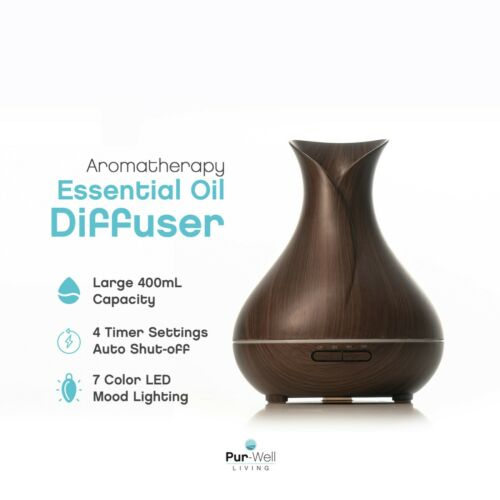 USA SELLER Pur-Well Living Aromatherapy Essential Oil Diffuser