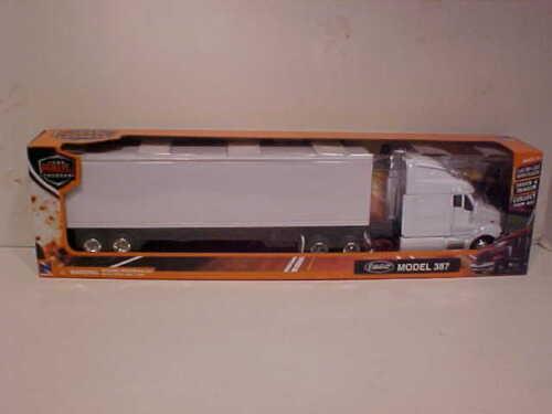Peterbilt 387 Container Trailer Semi Truck Die-cast 1:43 NewRay 16 inch White