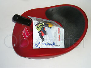 AlpenGaudi Kunststoffrodel Rutscher Rodel Bob rot Alpenzipfel Zipfel ...