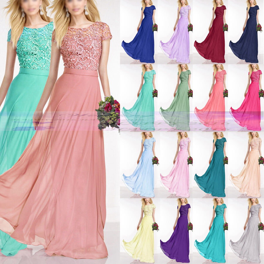 Floor Length Bridesmaid Dresses Formal Evening Dress Party Prom Dress Größe 6++18