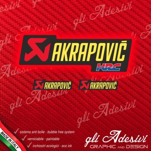 2 piccoli 1 AKRAPOVIC HRC Adesivo resistente calore