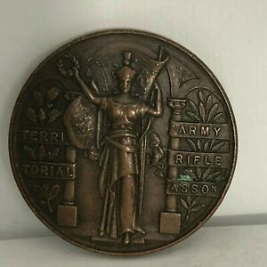 1940-039-s-Territorial-Army-Rifle-Association-Bronze-Medallion-No-Inscription-38-mm