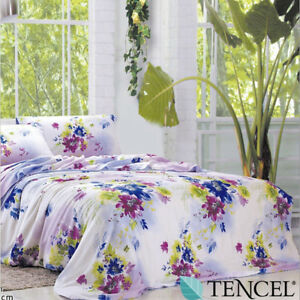 Premium-Tencel-Lyocell-4pc-Bed-Sheet-Set-Bedding-Set-Printed-Design-Queen