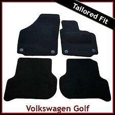 VW Golf Plus 2005-2013 Round Eyelets Fully Tailored Carpet Car Floor Mats BLACK