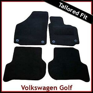 VW-Golf-Plus-2005-2013-Round-Eyelets-Fully-Tailored-Carpet-Car-Floor-Mats-BLACK
