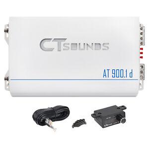 CT Sounds Car Audio Amplifier AT-900.1d Monoblock Pure Class D 900w RMS Amp