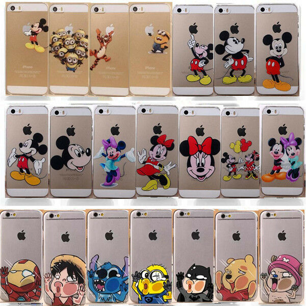 New Cute Cartoon Clear Cartoon Back Case Cover For iPhone 4S 5 5S 5C 6 6 Plus