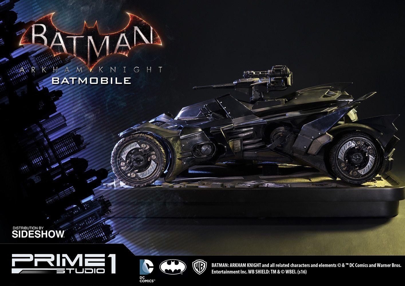 BATuomo Arkham Knight BATMOBILE Polystone Diorama Prime 1 1 1 Studio Sidemostrare Museum 9f13a4