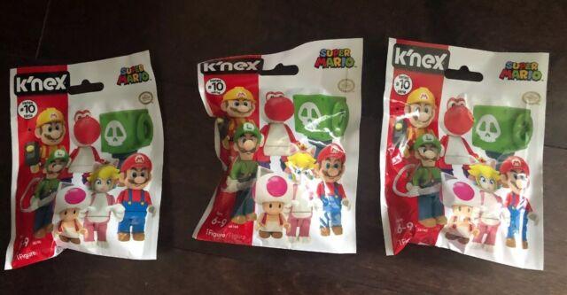 Each Pack Series #9 Set of 2 Packs of K/'NEX Super Mario Action Mystery Figure