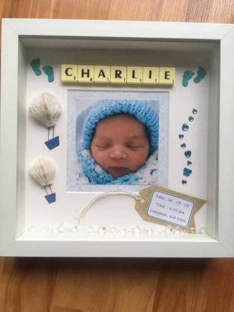 Newborn Baby Boy//Girl Personalised Photo Frame Nursery//Cot Decor Gift Present