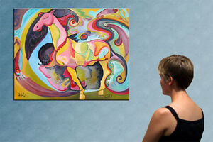 39-034-EXOTIC-HORSE-ORIGINAL-PAINTING-by-RALUCA