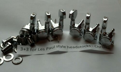 Guitar Locking Tuners 3+3 for LP Style Head stocks - Chrome