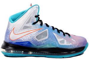 Nike Lebron 10 X Pure Platinum/Black-Sport Turquoise ...Lebron 10 Mvp
