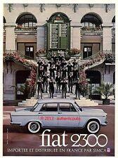 PUBLICITE VOITURE FIAT 2300 SIMCA AUX CHAMPS DE COURSES DE 1961 FRENCH CAR AD