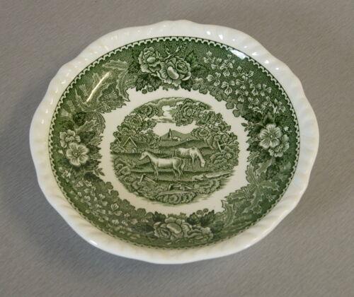 Adams Keramik Untertasse English Scenic Grün Ø 15 cm Real English Ironstone RAR