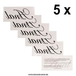 5 X Anal Tattoo Schriftzug In Schwarz Sexy Kinky Fetish Körper