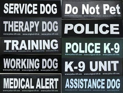Large Velcro Patch for Julius K9 Harness Letters A-K  NEW AGILITY ASSISTANCE DOG
