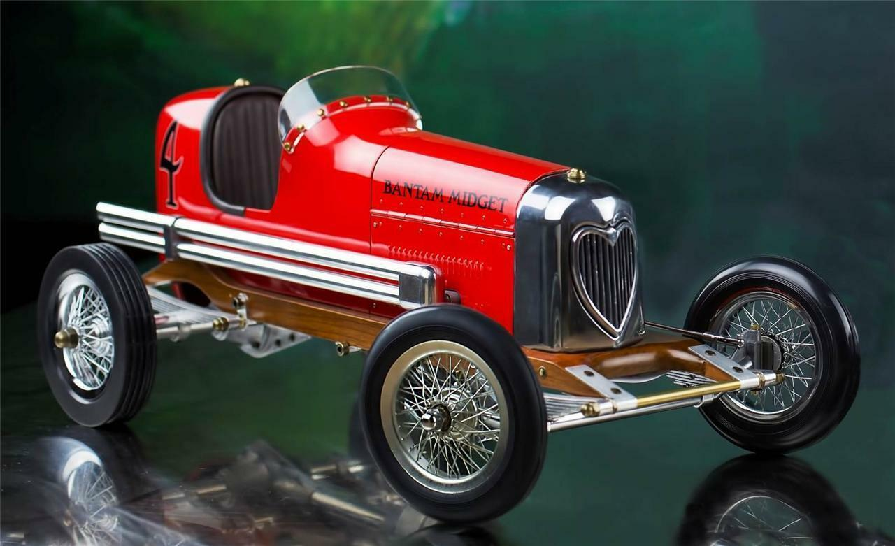 Bantam Midget Red 1930s Tether Car Model 19  Replica Racing Spindizzy New PC012