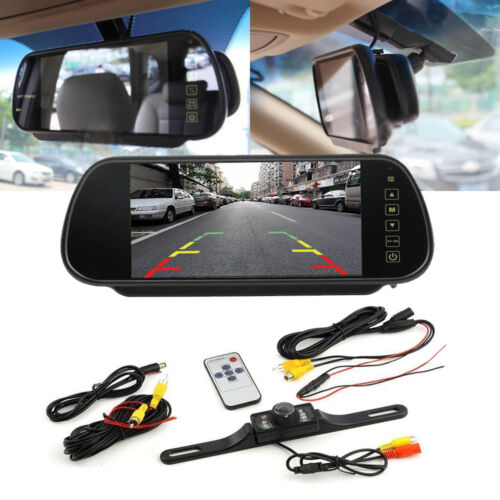 Night Vision Rear View Parking Reversing Bumper Colour Camera NTSC Guide Lines