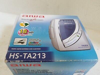 Aiwa Hs-ta213 Personal Am Fm Radio Cassette Player - In Box ( See Description )