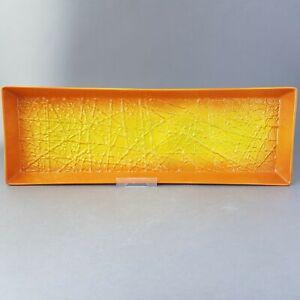 Rare-Vintage-Retro-Carlton-Ware-Orange-Sunburst-Tray-Serving-Dish-c1960s-E2