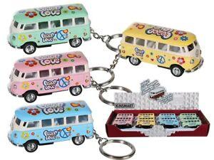 Métal Porte-Clé VW Camper Van Bus Volkswagen Rétro sous Licence Porte Clé