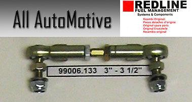 "3/"" Weber Carb Universal adjustable Throttle Linkage Rod swivel ends w//5mm end"