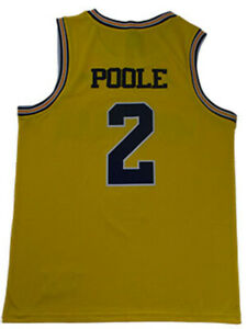 cheap for discount ef496 f9af7 Details about Jordan Poole Jersey 2# Michigan Wolverines University Sewn  Basketball Jersey