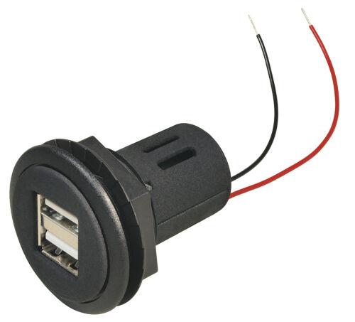 2x2,5A Einbau Ladedose für KFZ Auto 12V//24V Doppel USB Power Steckdose