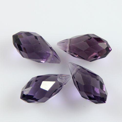 Pendants 10pcs exquisite 6*12mm teardrop crystal beads transparent gray