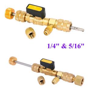 HVAC-AC-Schrader-Valve-Core-Remover-Dual-Size-1-4-034-amp-5-16-034-Port-Installer-Tool