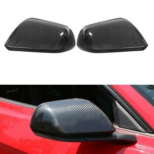 REAL Carbon Fiber Side Mirror Cover For Ford Mustang GT With LED Signal 15-17