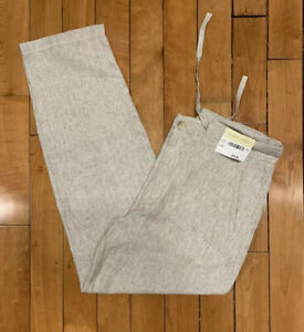 Joseph-amp-Feiss-Boho-Pants-Mens-36-32-100-Linen-New-with-Tags