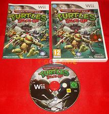 TEENAGE MUTANT NINJA TURTLES SMASH-UP TMNT Nintendo Wii Italiano 1ª Ed USATO D4