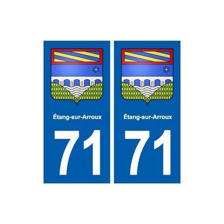 71 Étang-sur-Arroux blason autocollant plaque stickers ville droits
