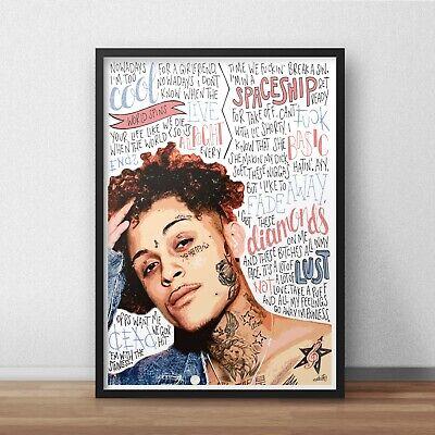 No Limit Poster A4 A3 HIP HOP Rap Lyrics G-Eazy INSPIRED WALL ART Print