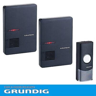 GRUNDIG Funkklingel DRAHTLOS Tür Klingel Gong LED Batteriebetrieb Funk Empfänger