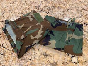 Navy-SEAL-NSW-Modified-Raid-Woodland-Camo-BDU-Combat-Shirt-LG-R-amp-Pant-MD-S