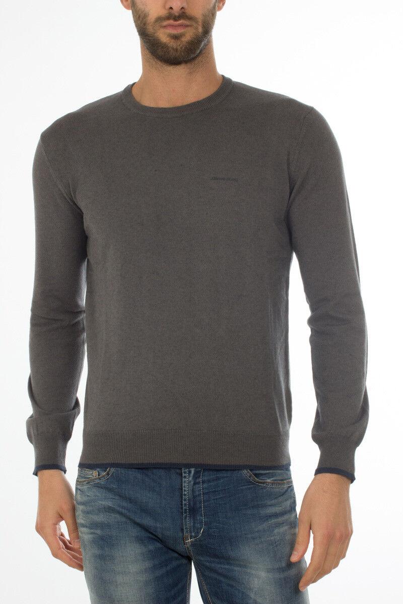 Maglia Maglietta Armani Jeans Sweater REGULAR FIT men grey 8N6M956M13Z 956