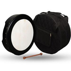 Muzikkon 40.6cmX10.2cm Irisch Bodhran Nicht Verstellbare Schwarz,Bodharn,Trommel