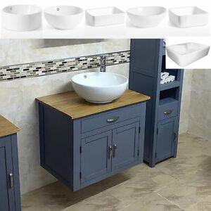 Grey Bathroom Vanity Unit Wall Hung Cabinet Ceramic Wash Basin 502gwcbc Ebay