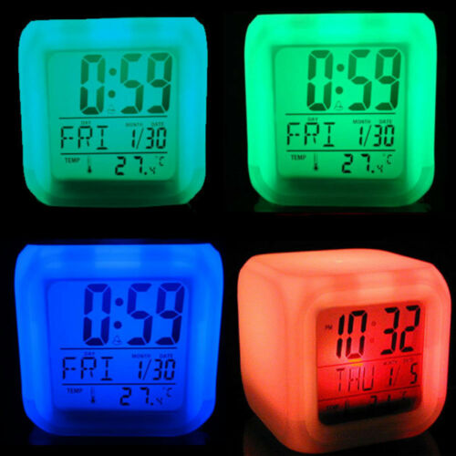 New Game Undertale Alarm Clock 7-Color Changing Alarm Clock in Box Gift
