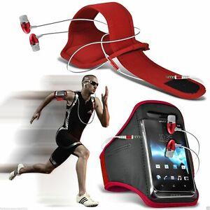 ROUGE Brassard de Sport Téléphone Étui Housse Gym Course Pour Cat B35