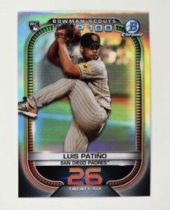 2021 Bowman Scouts Top 100 Chrome Base #BTP-26 Luis Patino - San Diego Padres RC