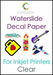 1-Sheet-CLEAR-Water-Slide-Decal-Paper-INKJET-A4-Waterslide-Transfer-Craft-Sample