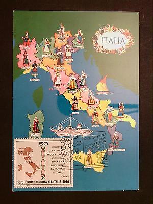 Italien Mk 1970 Roma Trachten Costume Maximumkarte Carte Maximum Card Mc C8219